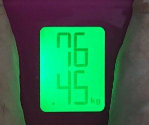 スタート時の体重